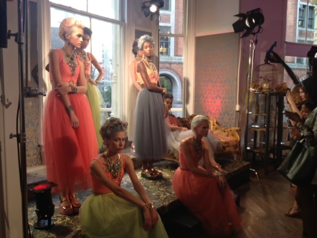 Models bedecked in Lulu Frost's newest designs