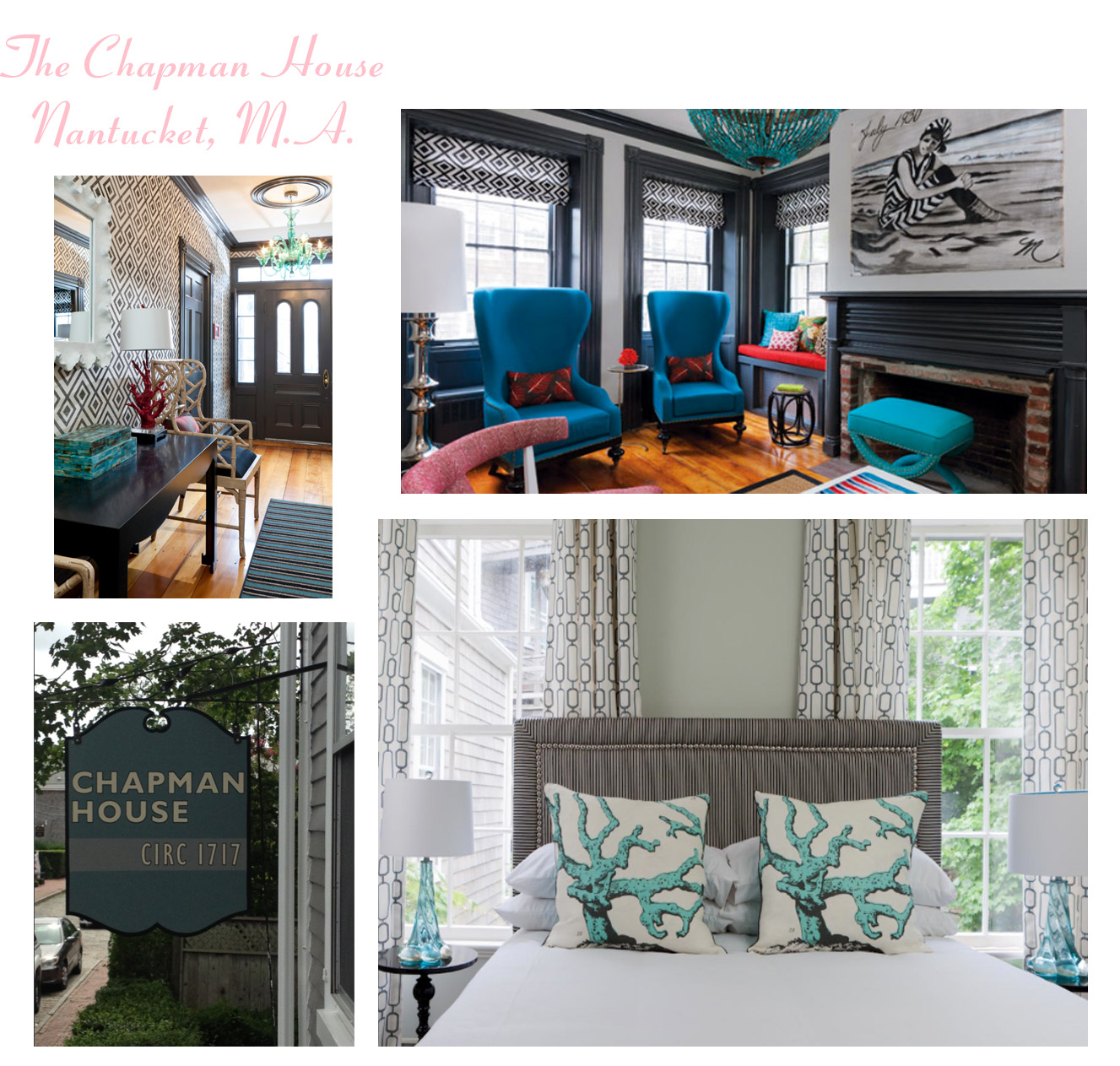 Chic retreats new england beach town b bs bona style for Chapman house