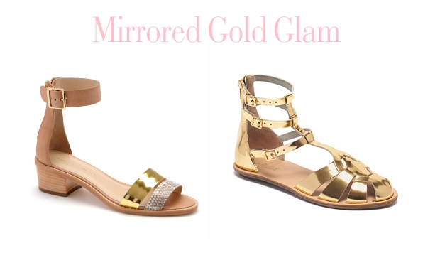Left: Henry Stacked Sandal Right: Steph Gladiator Sandal