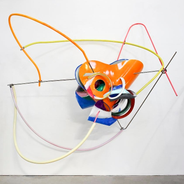 Frank Stella, K. 144, 2013, ABS and steel, 76 x 97 x 49 inches