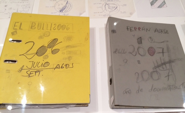 Ferran Adria's notebooks resemble those of a highschool student, covered with whimsical scribbles.