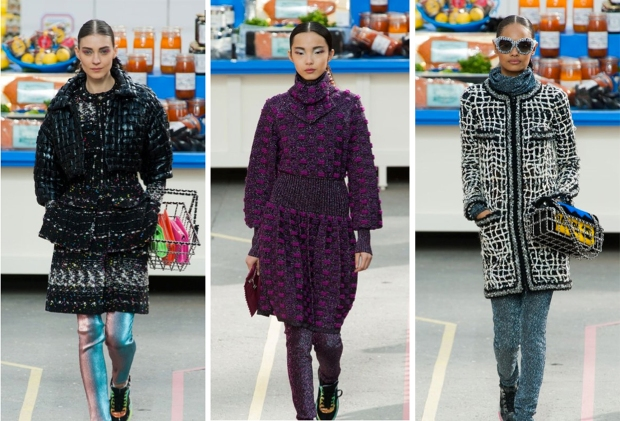 Looks from Chanel f/w 2014 runway show.
