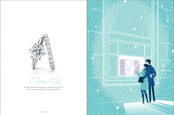 Snowy Engagement at Tiffany's