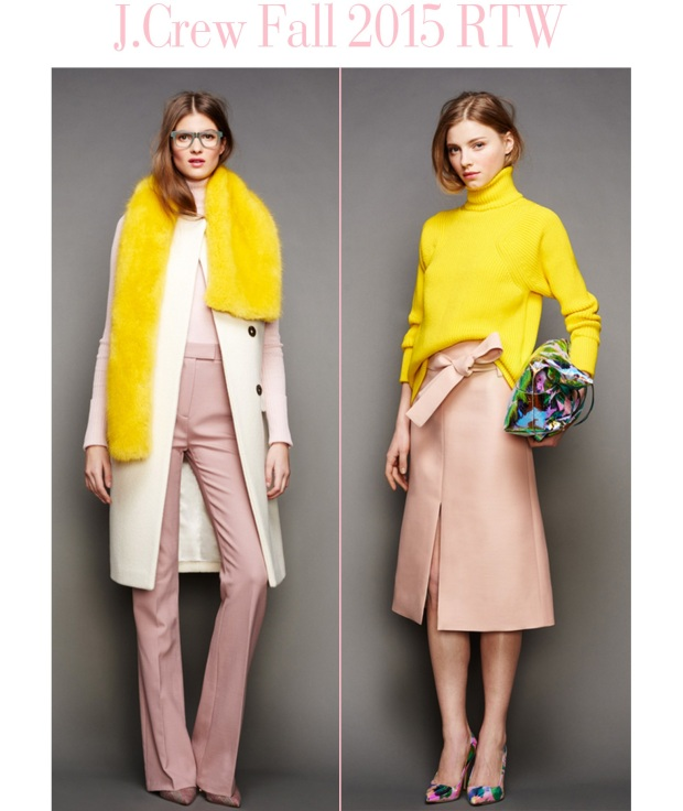 JCrew Fall 2015 RTW pink and yellow