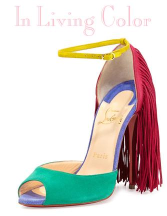 Louboutin color shoe