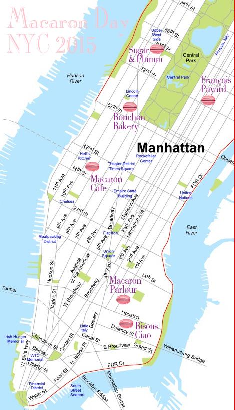 Macaron Map NYC