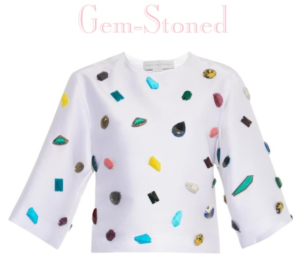 Stella McCartney Gemstone-Embellished top