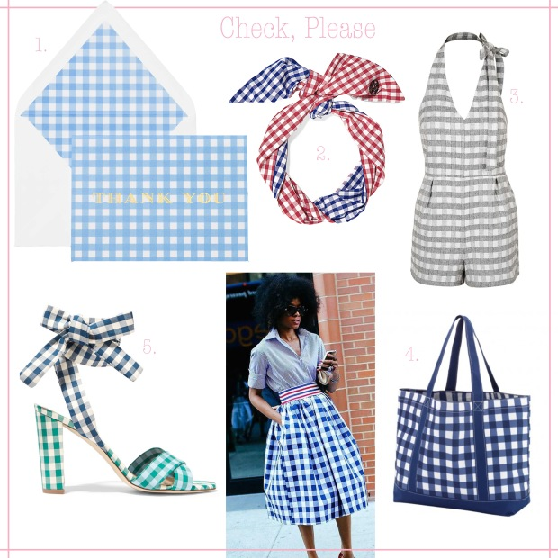 Gingham Mood Board
